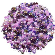 'PURPLE BERRY' Theme Rhinestone and Pearl Embellishment Pack